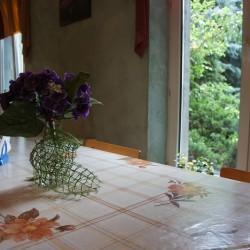 kwiaty nastole wjadalni